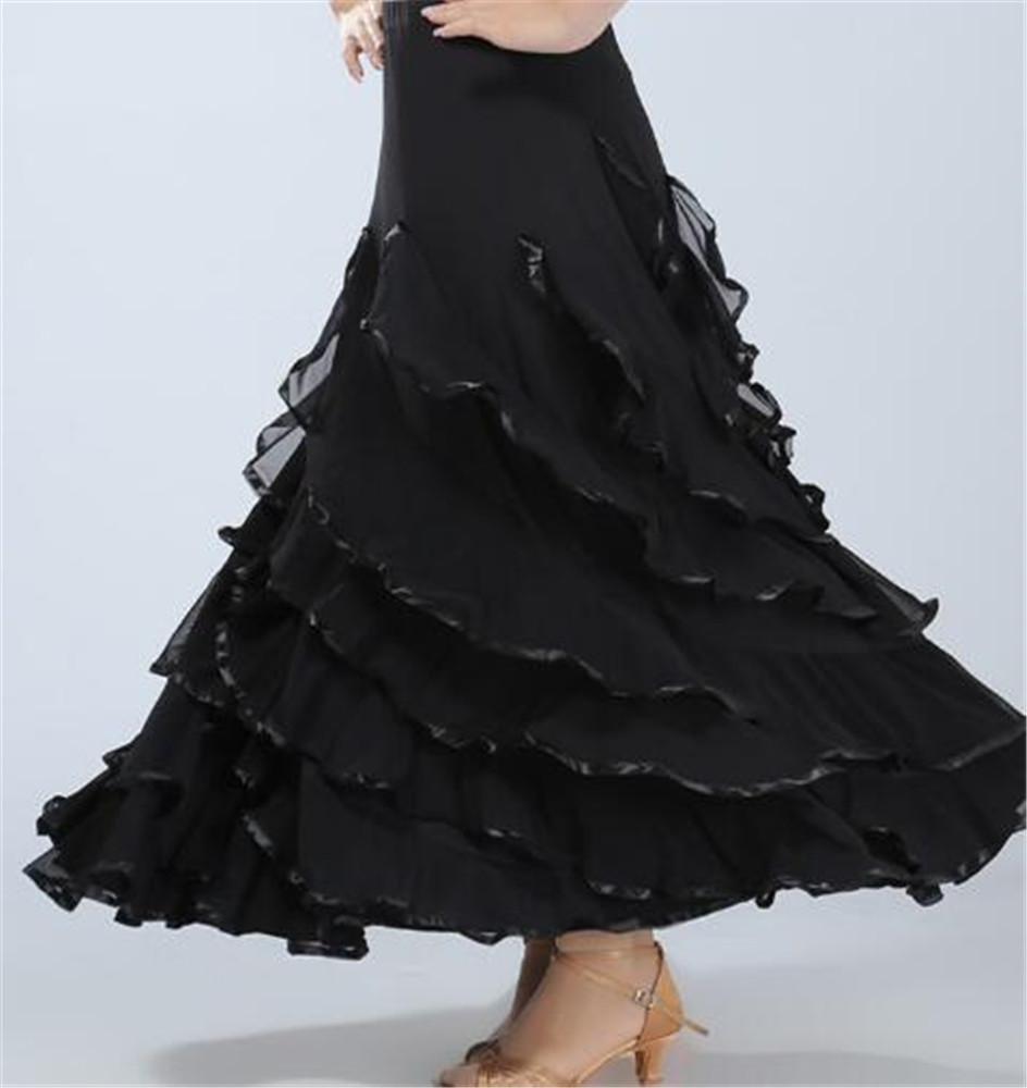 noir XXXL Danse Moderne des Femmes Big Jupe Costumes de Formation de Danse Jupes Spectacles d'étape