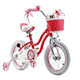 """Royalbaby Stargirl Girls Bike with Training Wheels and Basket, Best Gifts for Girls. Blue, Red, 12"""", 14"""", 16"""" Avaliable"""