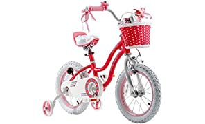 RoyablBaby Stargirl Girl's Bike with Training Wheels or Kickstand