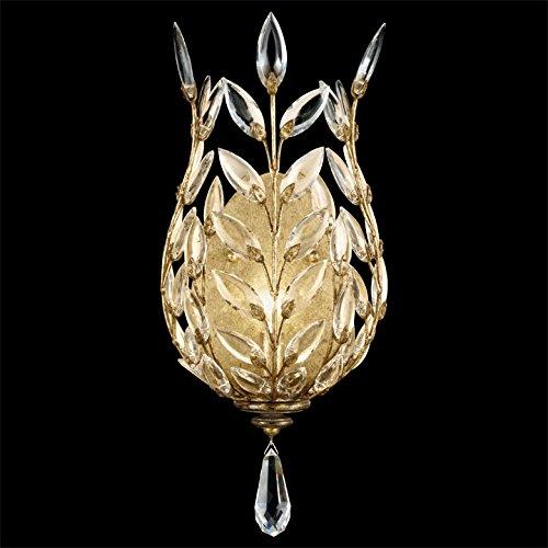 Laurel Gold Chandelier Crystal (Fine Art Lamps 773950, Crystal Laurel Crystal Wall Sconce Lighting, 1 Light, 60 Total Watts, Gold)