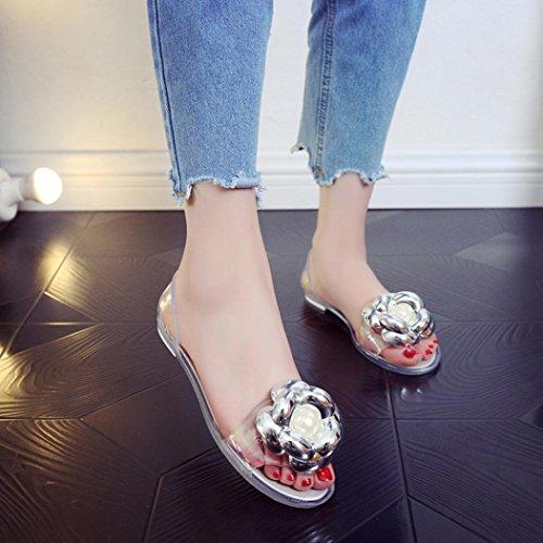 Flat Jamicy Women Sandals Casual Silver Fashion Beach Mouth Plastic Ladies Summer Design Jelly Fish Flower ww8rdq