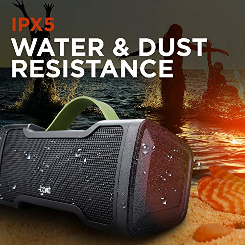 boAt Stone 1000 Portable Wireless Speaker with 14W Stereo Sound, Enhanced Bass, Rugged Design, Up to 8H Playtime and IPX5 Water & Splash Resistance (Black)