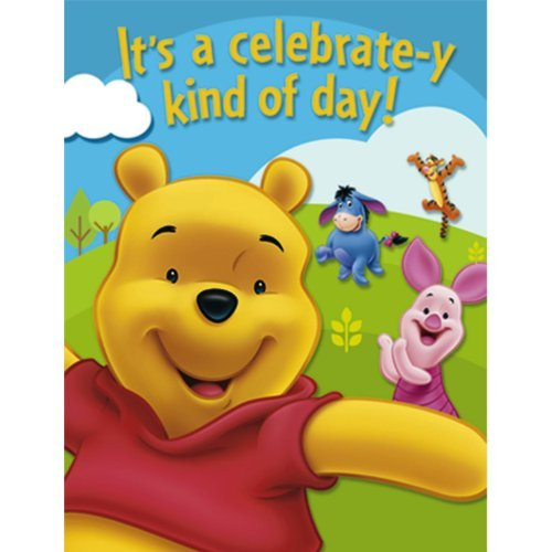 Factory Card and Party Outlet Winnie The Pooh Invitations 8ct