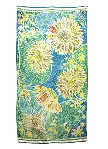 Amazon.com: Oversize silk shawl or wall art: Hot wax batik on silk ...