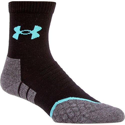 Under Armour UA All Season Cool Mid Sock Black, M (Under Armour Socks Men Quarter)