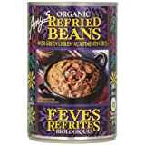 Amy'S Kitchen Organic Refried Beans With Green Chilis, 398 ml