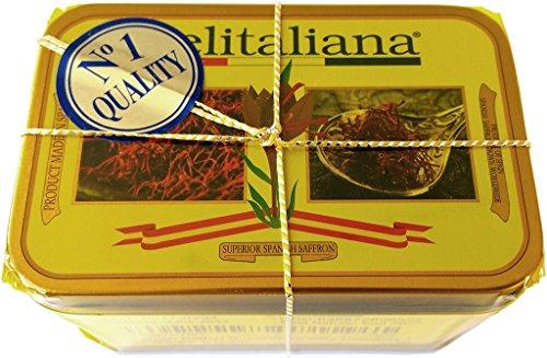 Pure Spanish Saffron Tin 5-Gram Superior Quality Category I (Saffron Threads)