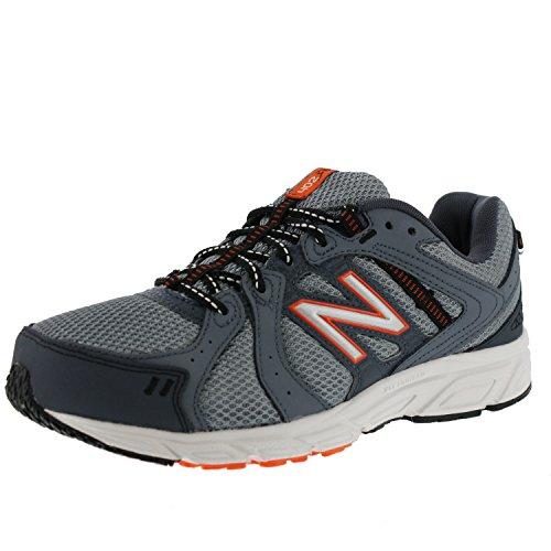 New Balance Men's ME402V1 Running Shoe, Dark Grey/Orange, 13 4E US