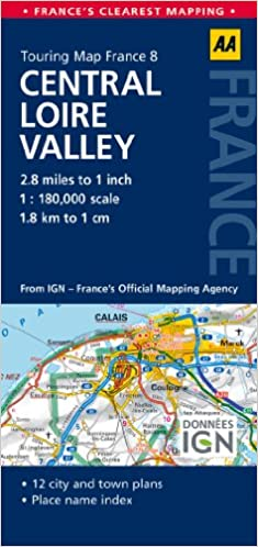 Road Map Central Loire Valley (Road Map France): AA ... Map Loire Valley France on vercors france map, nord-pas-de-calais france map, vendee france map, ireland france map, auvergne france map, amsterdam france map, catalonia france map, st remy provence france map, salzburg france map, madrid france map, chartres france map, normandy france map, palais des papes france map, rome france map, de loire france map, carriveau france map, scotland france map, tours france map, the dordogne france map, austria france map,