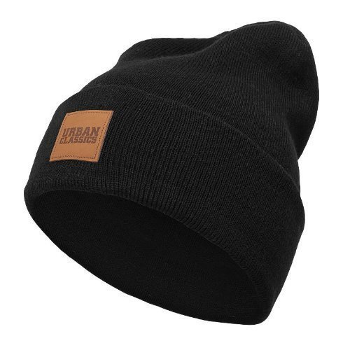 Leatherpatch CRT Beanie Winter Mütze (Black)