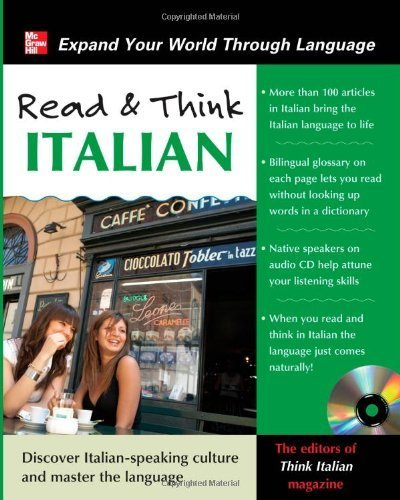 Read and Think Italian with Audio CD (Read & Think) 1st (first) by Think Italian! Magazine, The Editors of (2011) Audio CD
