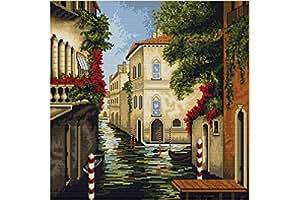 Kit de punto de cruz. Venecia en Flor