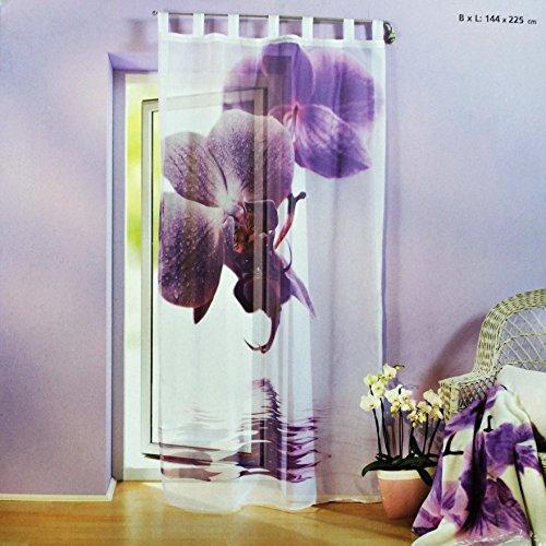 Schlaufenschal Orchidee Wohnzimmer Vorhang Vorhangschal Store Blume Mit  Motiv Blüte Riesenorchidee Dekoschal Schlaufengardine Gardine: Amazon.de:  Küche U0026 ...