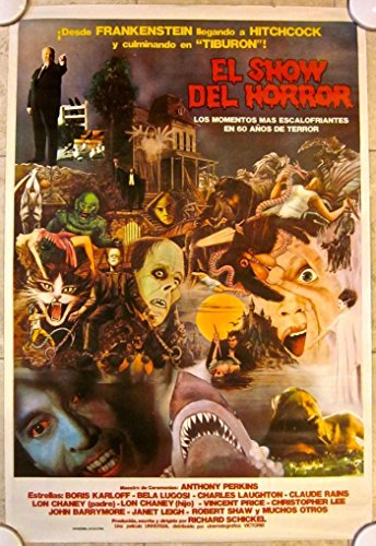 HORROR SHOW -ORIGINAL 1979 ARGENTINEAN POSTER- SCARY ART W/ HITCHCOCK HALLOWEEN]()