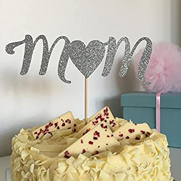 Mom Cake Topper Mothers Day Cake Topper Mothers Day Idea I Love Mom