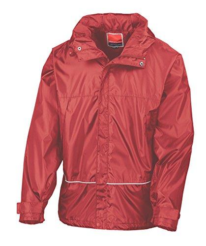 RT155X Pro Coach Jacke Windjacke Regenjacke Kapuze , Farbe:RED;Größen:M