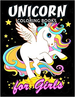 Unicorn Coloring Book For Girls Cute Coloring Book Easy Fun