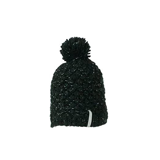 Amazon.com  Obermeyer Womens Sunday Knit Hat Teen Black  Sports ... 82b7f2d5eeb6