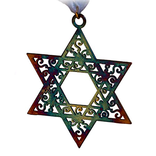 Star of David Filigree Ornament with Ribbon by From War to Peace