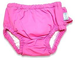 i play. Baby Girl\'s Ultimate Swim Diaper (Hot Pink, 12-18 M)