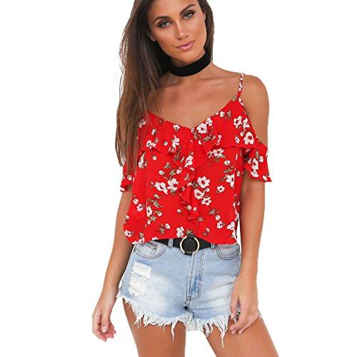 Romacci Summer Shoulder Chiffon T Shirt product image