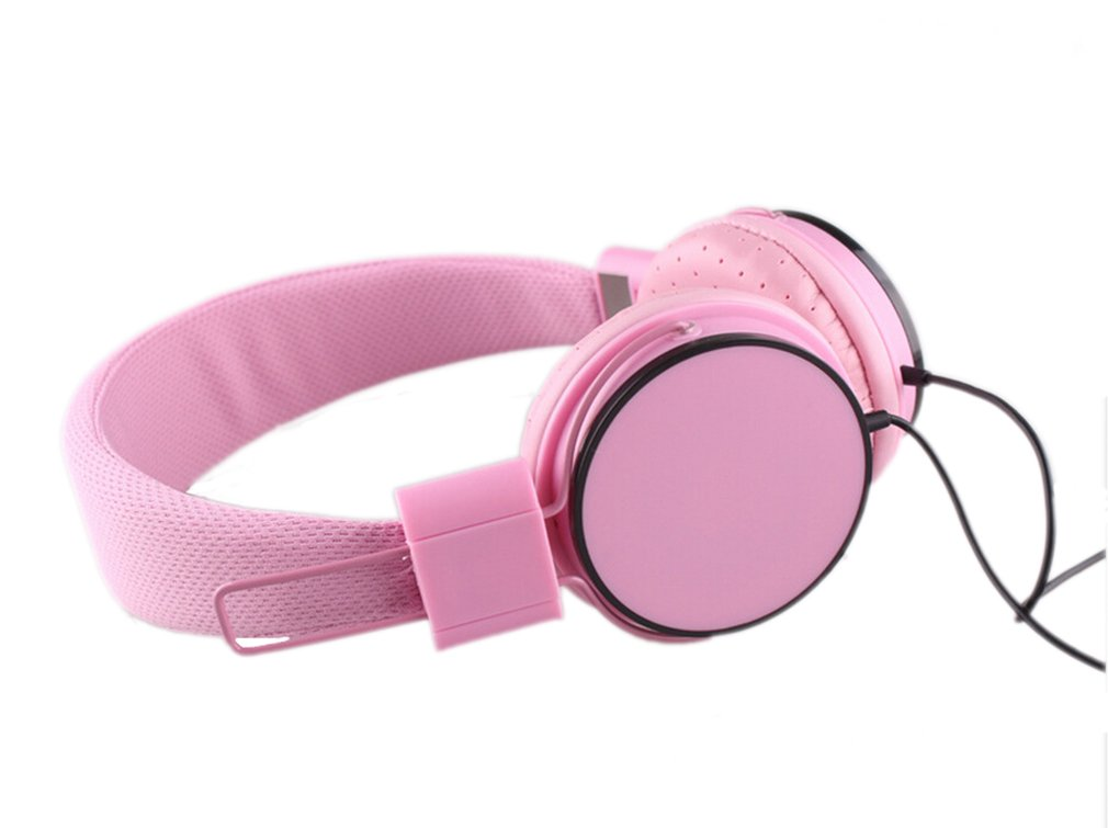 YouthCamp Stereo Lightweight Folding Portable Headphones, Extremely Soft Ear Pad, Noise Cancelling Cute Earphones(Pink)
