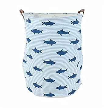 Shark Toy Storage Bin Basket, Foldable Canvas Storage Cube Bin Organizers for Clothing, Nursey, Kid's Toys, Closet & Laundry, Gift Basket Kid's Toys Hinsper