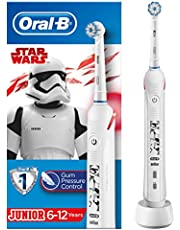 Save on Oral-B Junior Electric Toothbrush Rechargeable Powered By Braun, 1 Handle Featuring Star Wars, 1 Toothbrush Head, For Ages 6+ and more