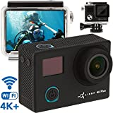 Premium 4K Action Camera - Best Live Action Camera - NEW 2018 - 16MP Sony Sensor 1080p - Sports Camera Kit - Mini Action Cam - Sport Waterproof Action Camera Case w/ Remote Control+2 Battery by Airon