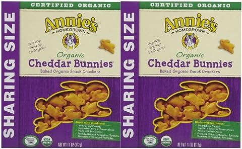 Annie's Homegrown Family Size Organic Cheddar Bunnies - 11 oz - 2 pk