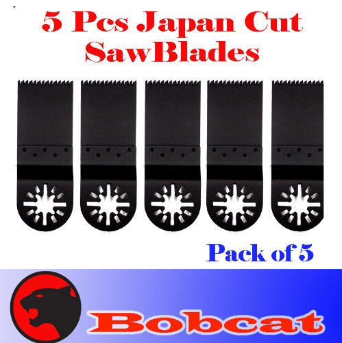 Pack of 5 Japan Tooth Fast Cut Oscillating Multi Tool Saw Blade for Fein Multimaster Bosch Multi-x Craftsman Nextec Dremel Multi-max Ridgid Dremel Chicago Proformax Blades