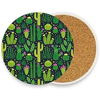 Mud Pie Cactus Concrete Coaster Set