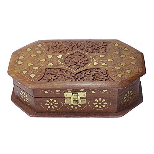 Decorative Jewelry Boxes Ideas : Handmade decorative jewelry box wooden keepsake lock