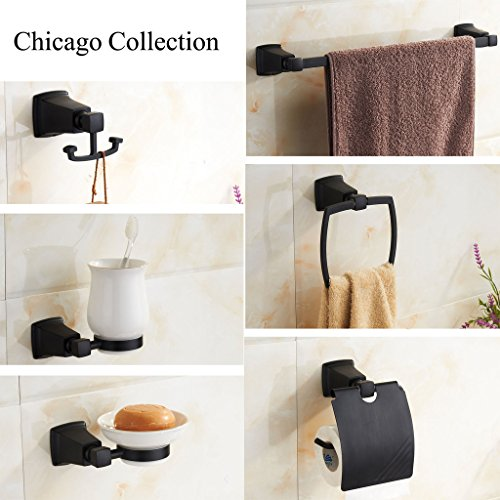 marmolux acc chicago series bathroom accessories set towel bar towel ring towel holder stainless steel oil rubbed bronze - Bathroom Accessories Chicago