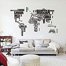 Vinyl world map wall sticker Décor Full Adhesive Art Wall Decal For Living Room
