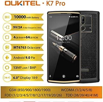 OUKITEL K7 Pro 4G RAM 64G ROM Smartphone Android 9.0 MT6763 Octa ...