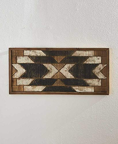 The Lakeside Collection Rustic Wood Rectangle Geometric Quilt Pattern Art - ()
