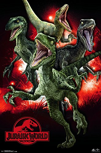 Trends International Jurassic World Raptors Wall Poster 22.375