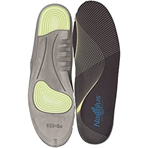 Nautilus Safety Footwear Men's Memory Foam and Gel Impact Insoles Health Care and Food Service Shoe, Black, Large/11-12 D US