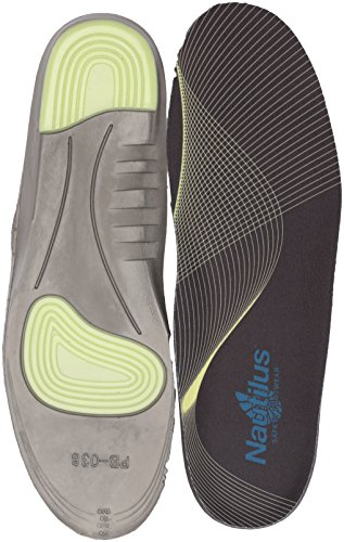 Nautilus Safety Footwear Mens Memory Foam And Gel Impact Insoles Health Care And Food Service Shoe  Black  Large 11 12 D Us
