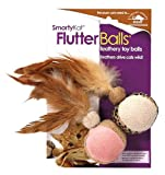 SmartyKat FlutterBalls 2-Pack Feathery Ball Cat Toy, My Pet Supplies