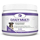 Cheap Pet Multivitamins for Dogs: Daily Dog Multivitamin Supplement for Dogs of all Ages, Breeds & Sizes. Skin, Coat, Eye, Digestive & Immune Health. Vitamins, Minerals, Antioxidants & Fish Oil Chews Treats