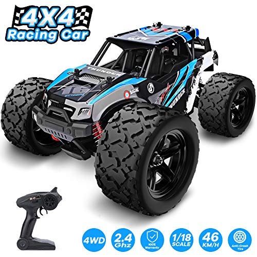 YEZI 1:18 Scale Large RC Cars 36km/h+ Speed, 2.4Ghz All Terrain Waterproof Remote Control Truck,4x4 Electric Rapidly Off Road car for, Remote Control car for Kids Boys and Adults