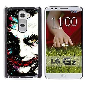 Paccase / SLIM PC / Aliminium Casa Carcasa Funda Case Cover para - Greepy Clown Monster Villain White Face - LG G2 D800 D802 D802TA D803 VS980 LS980