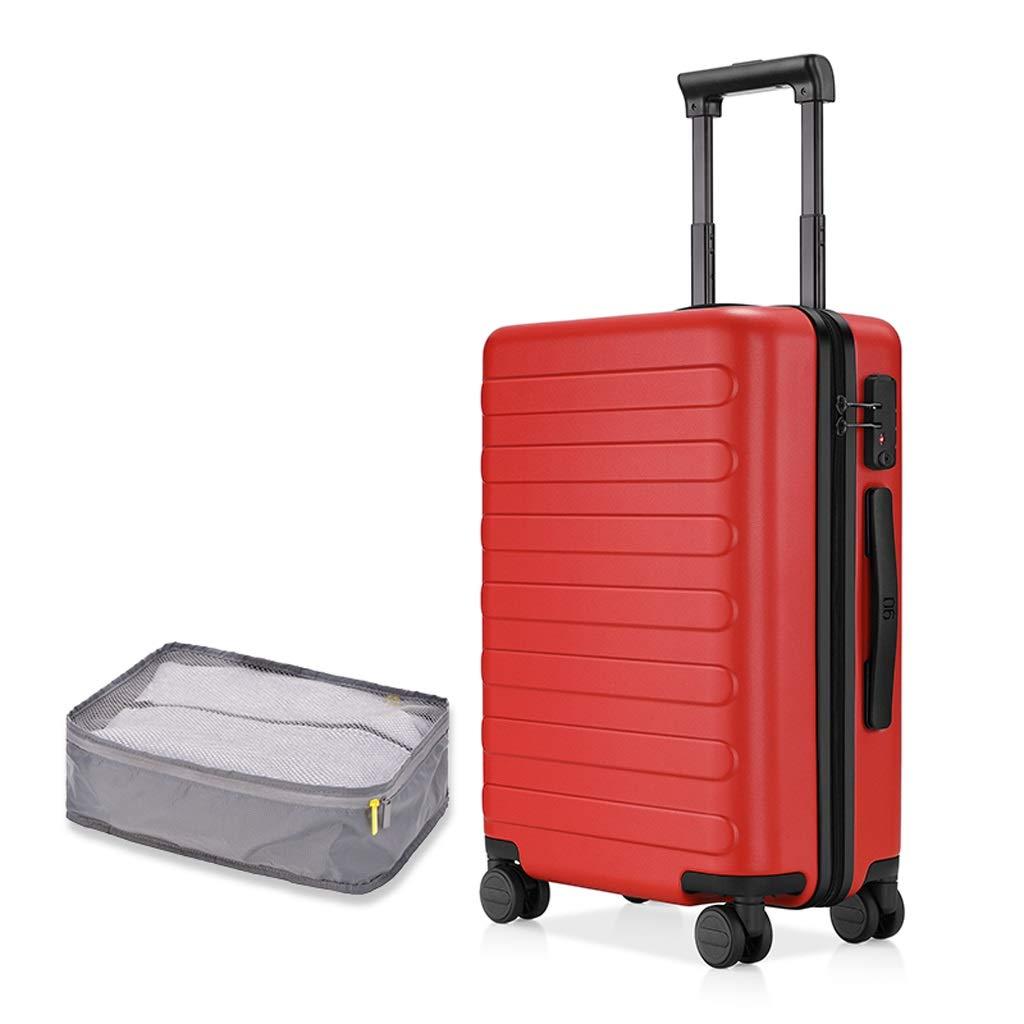 ZHAOSHUHLI スーツケーストラベルトロリーケーストラベルボックスミュートキャスタービジネストロリーケース女性スーツケースパスワードボックス男性搭乗ケース収納バッグ付き (色 : 赤, サイズ さいず : 18 inches) 18 inches 赤 B07QZJ2K87