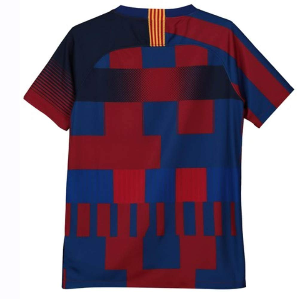 22a9dc41d39 Amazon.com   Nike 2018-2019 Barcelona Anniversary Football Soccer T-Shirt  Jersey (Kids)   Clothing
