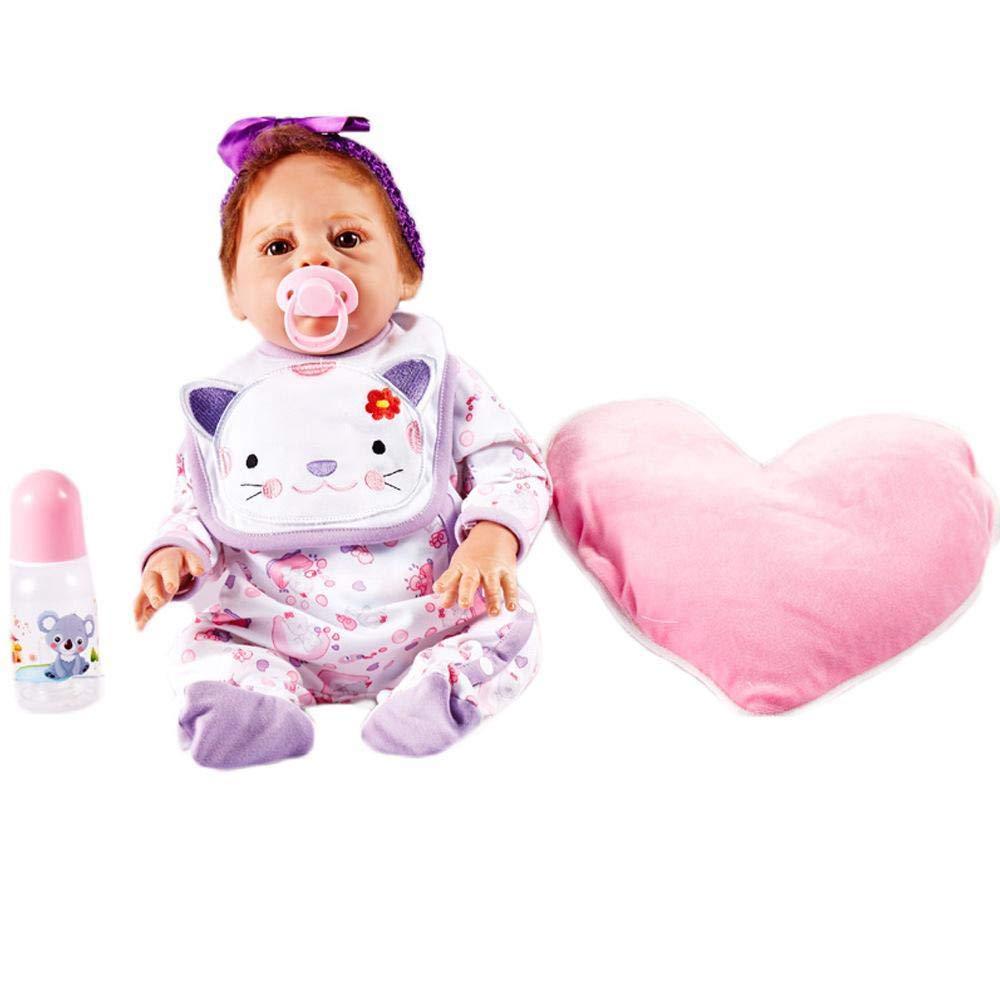 70% de descuento Hongge Reborn Reborn Reborn Baby Doll,Muñeca de Reborn muñeca Realista Realista Silicona niños Juguetes Mejor Regalo de cumpleaños de Navidad 55cm  moda clasica