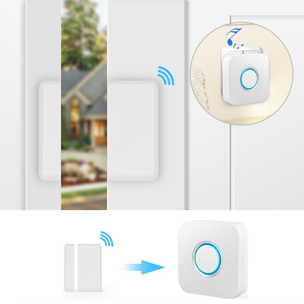 Wireless Door Sensor Alarm Chime, BITIWEND Home Security Window Entry Alert With Operating Range 600 feet/52 Chimes For Home/Garage/Shop (1 Door Sensor & 1 Receiver) by BITIWEND (Image #3)
