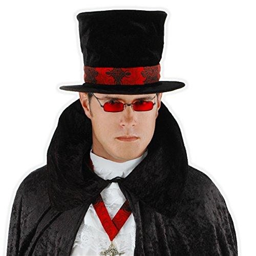 Vampire Glasses Black with Red Lenses Costume Accessory - Black With Red Vampire Glasses