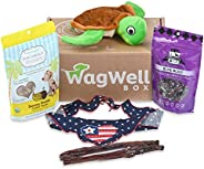 WagWell Box - Monthly Dog Subscription Box | Organic Dog Treats, Premium Dog Toy, Bully Sticks, Dog Bandana, T